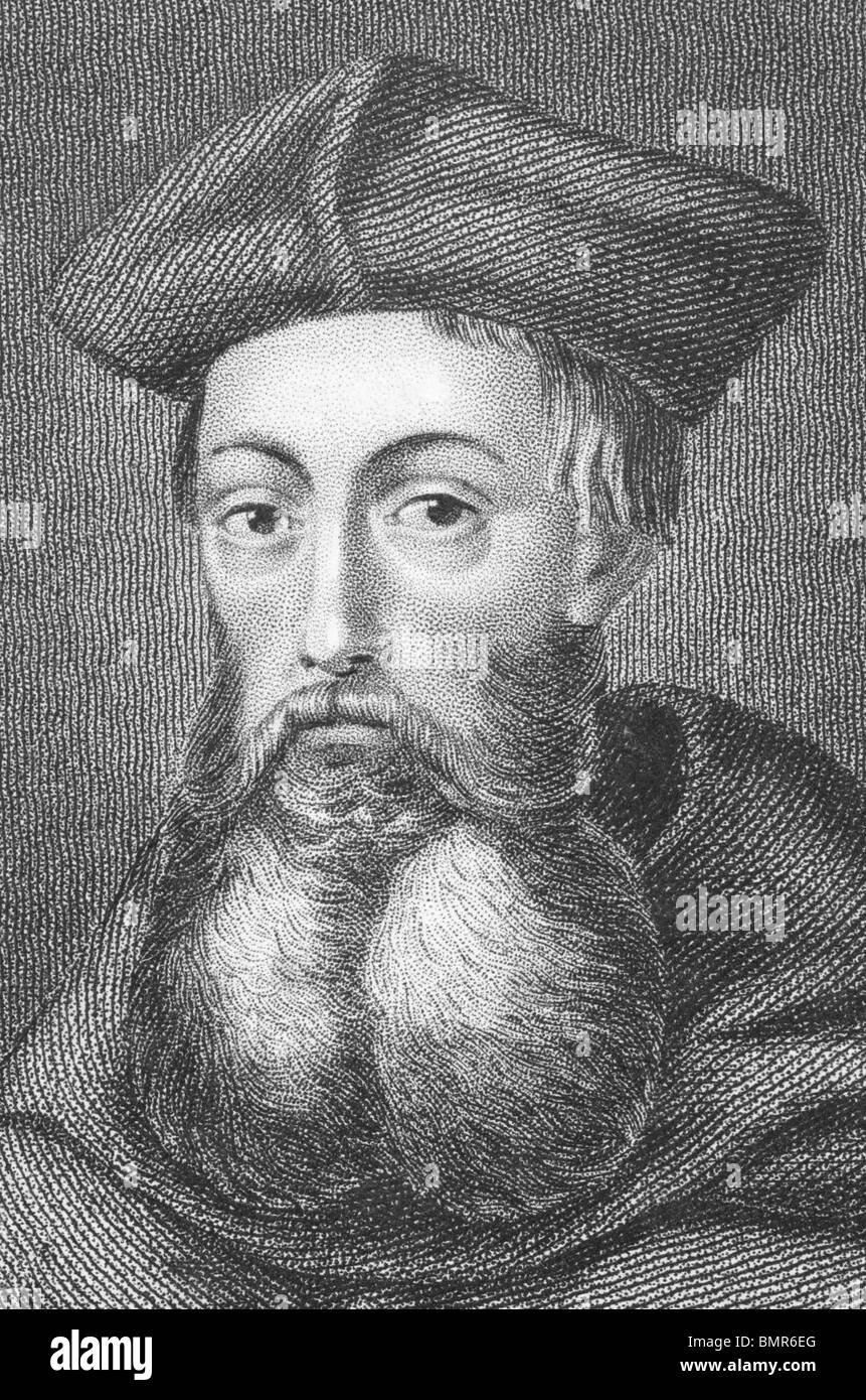 Reginald Pole (1500-1558) on engraving from the 1800s. English Cardinal in the Catholic Church. - Stock Image