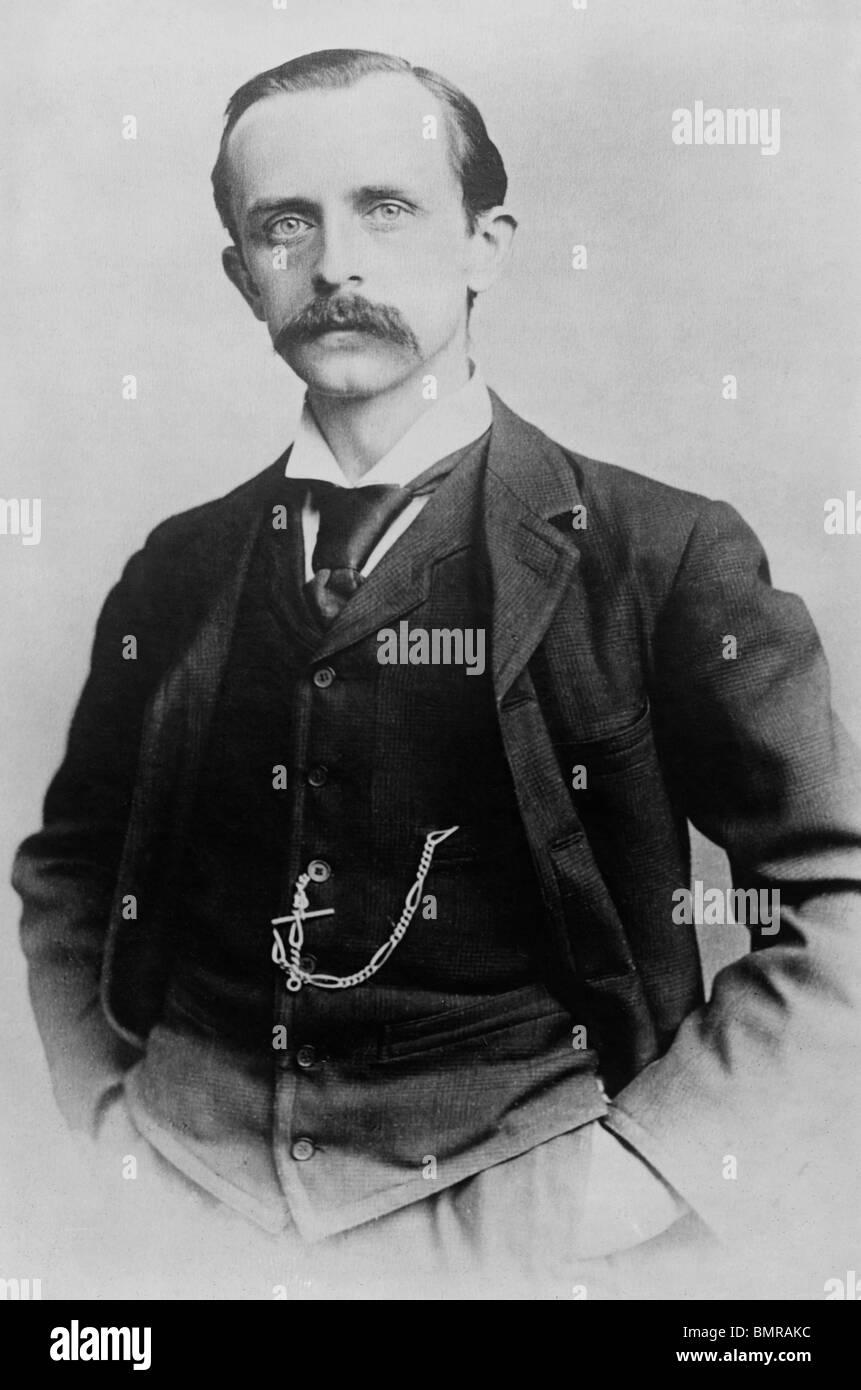 Portrait photo circa 1900 of Scottish author and dramatist J M (James Matthew) Barrie (1860 - 1937) - creator of - Stock Image