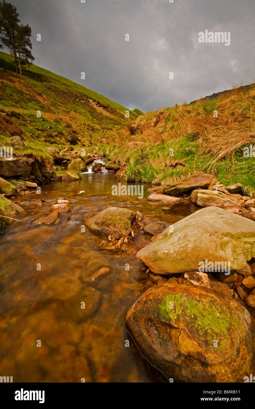 Grindsbrook Booth on the route up Kinder Scout,Derbyshire Peak District. - Stock Image