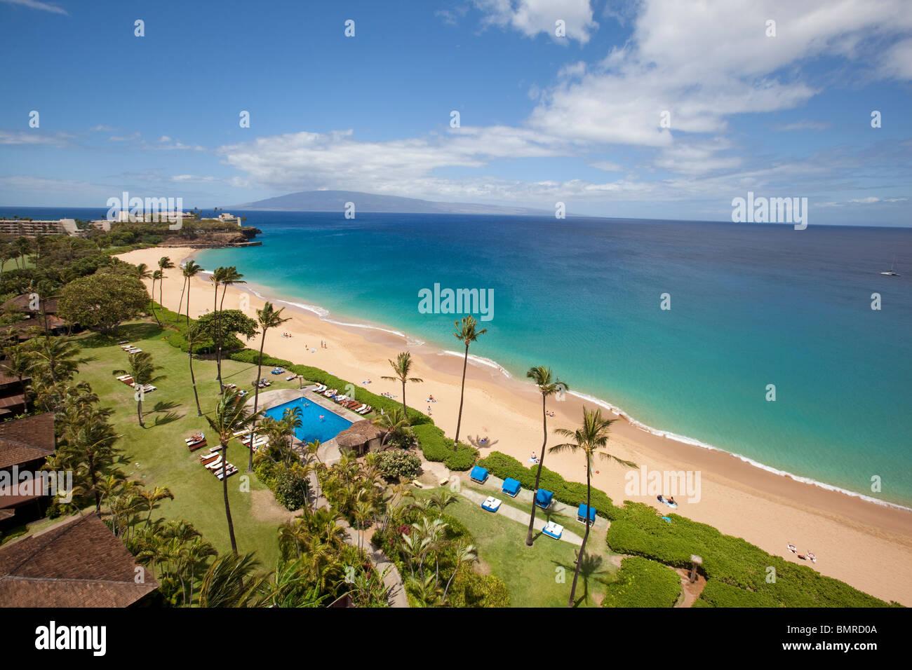 Kaanapali Beach Maui Hawaii Stock Photo 30018586 Alamy