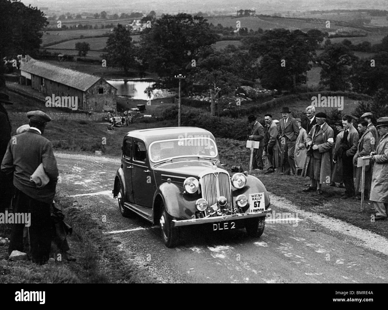 Welsh Rally 1937. Rover Speed 20. - Stock Image