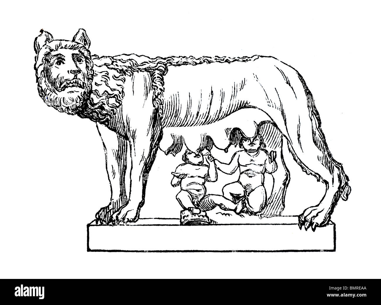 Romulus and Remus - Stock Image