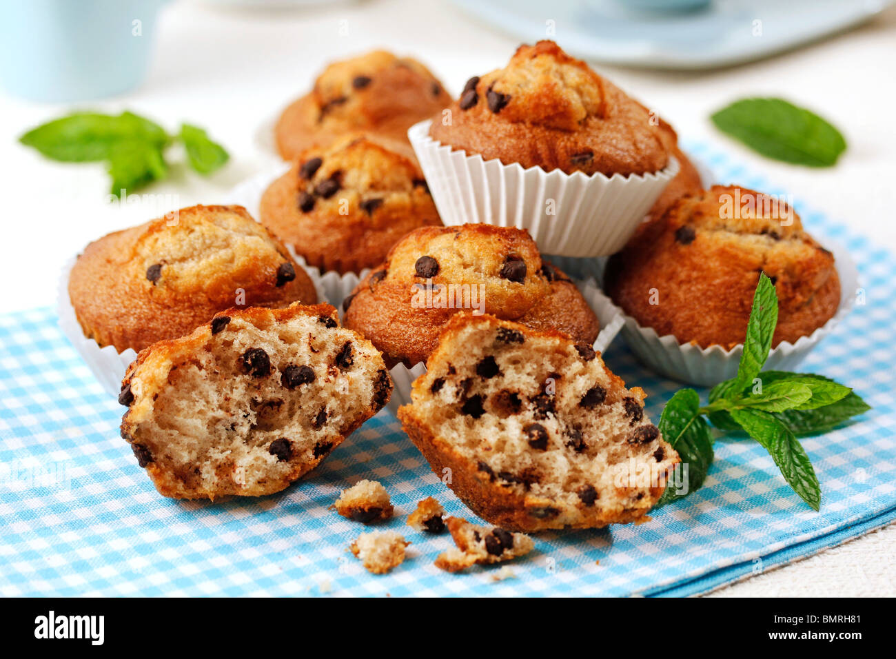 Chocolate muffins. Recipe available. - Stock Image