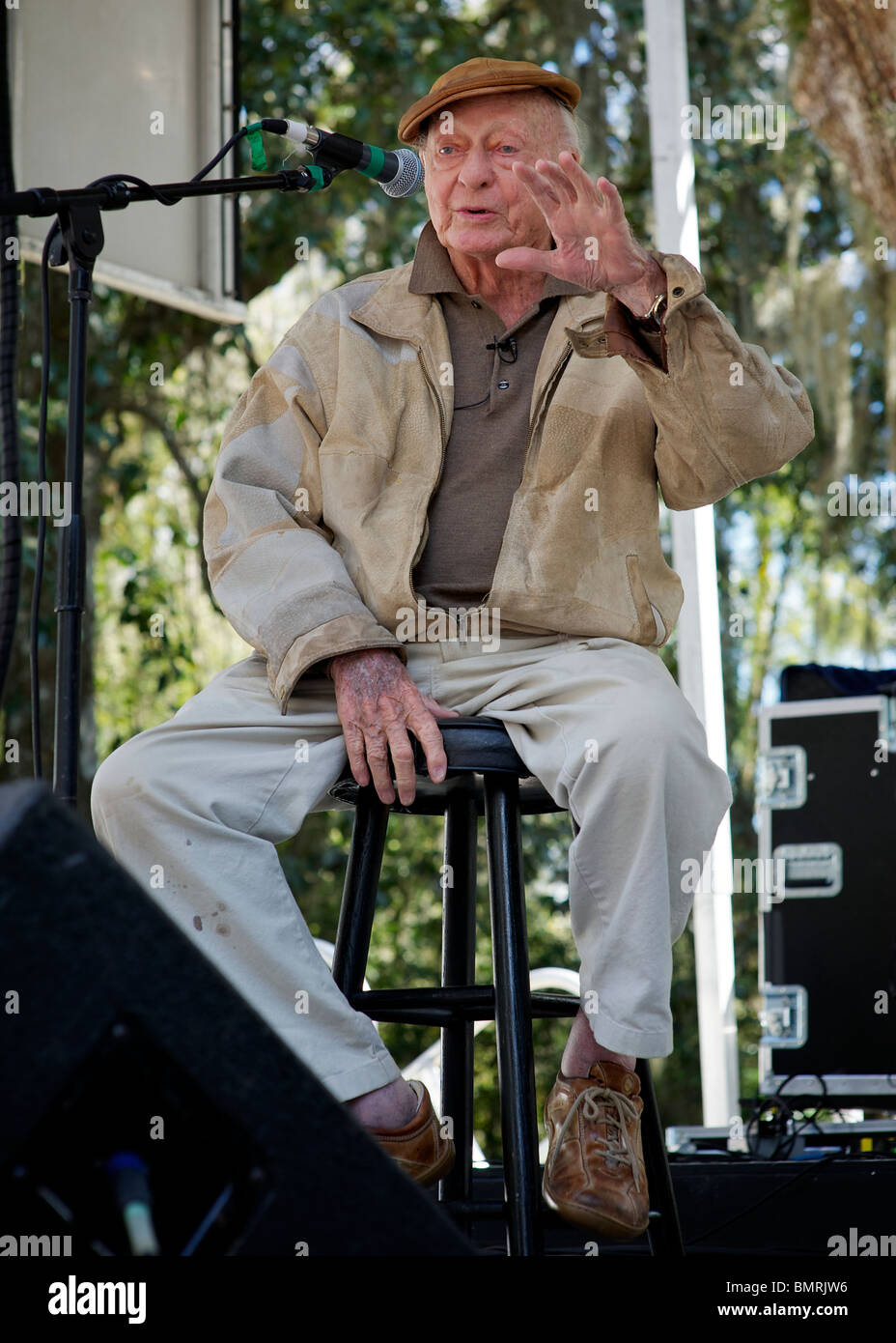 Writer Stetson Kennedy at the Southern Exposure Festival - Stock Image