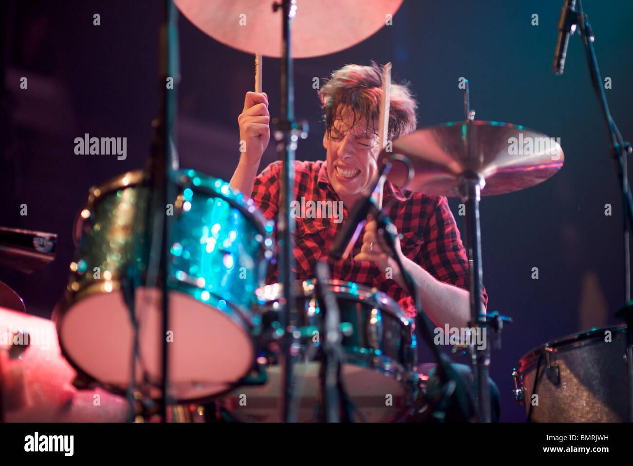 Black Keys drummer Pat Carney - Stock Image
