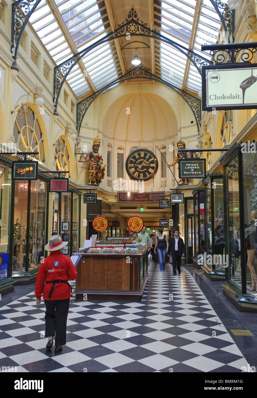 The Royal Arcade in Melbourne Central Business District - Stock Image
