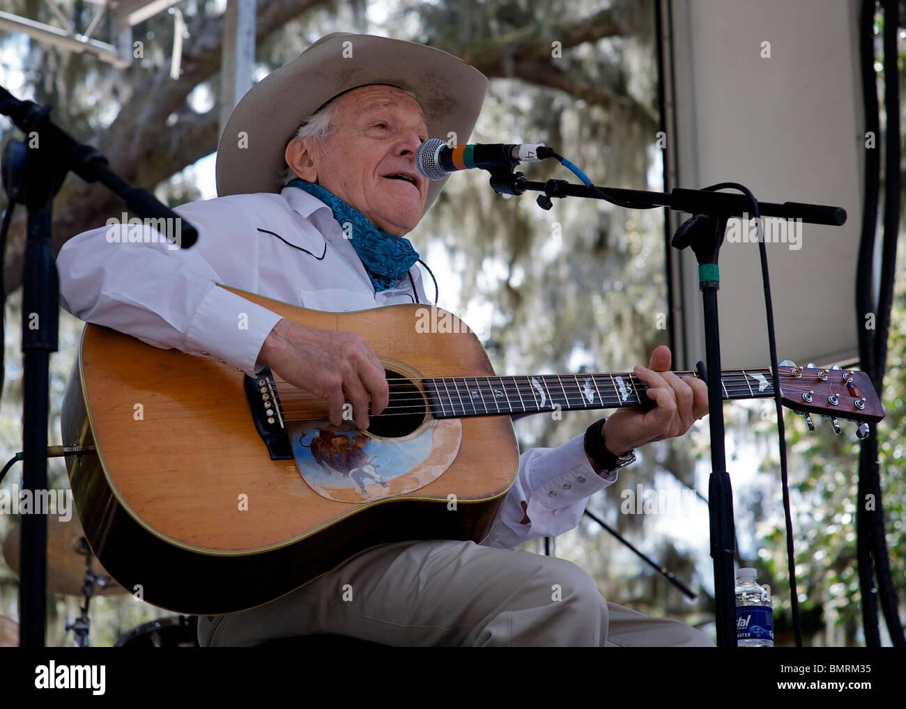 Ramblin' Jack Elliott, Southern Exposure Festival - Stock Image