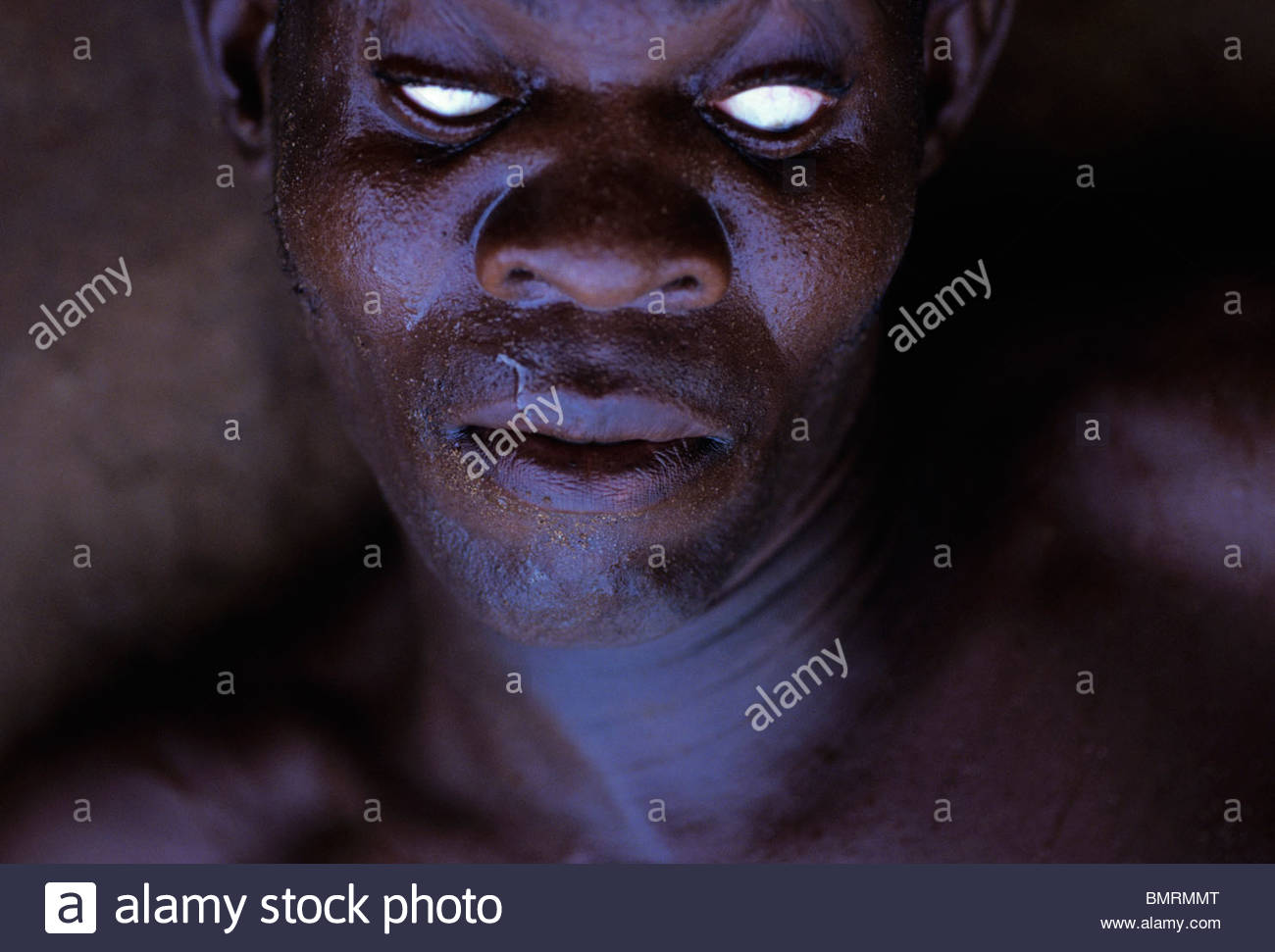 Voodoo worchiper in a trance - Stock Image