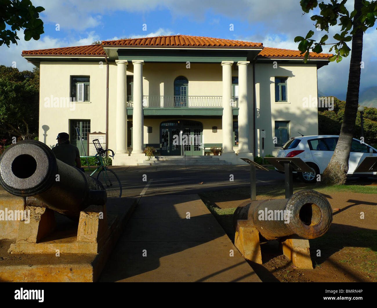 Old Courthouse,Lahaina, Maui, Hawaii - Stock Image