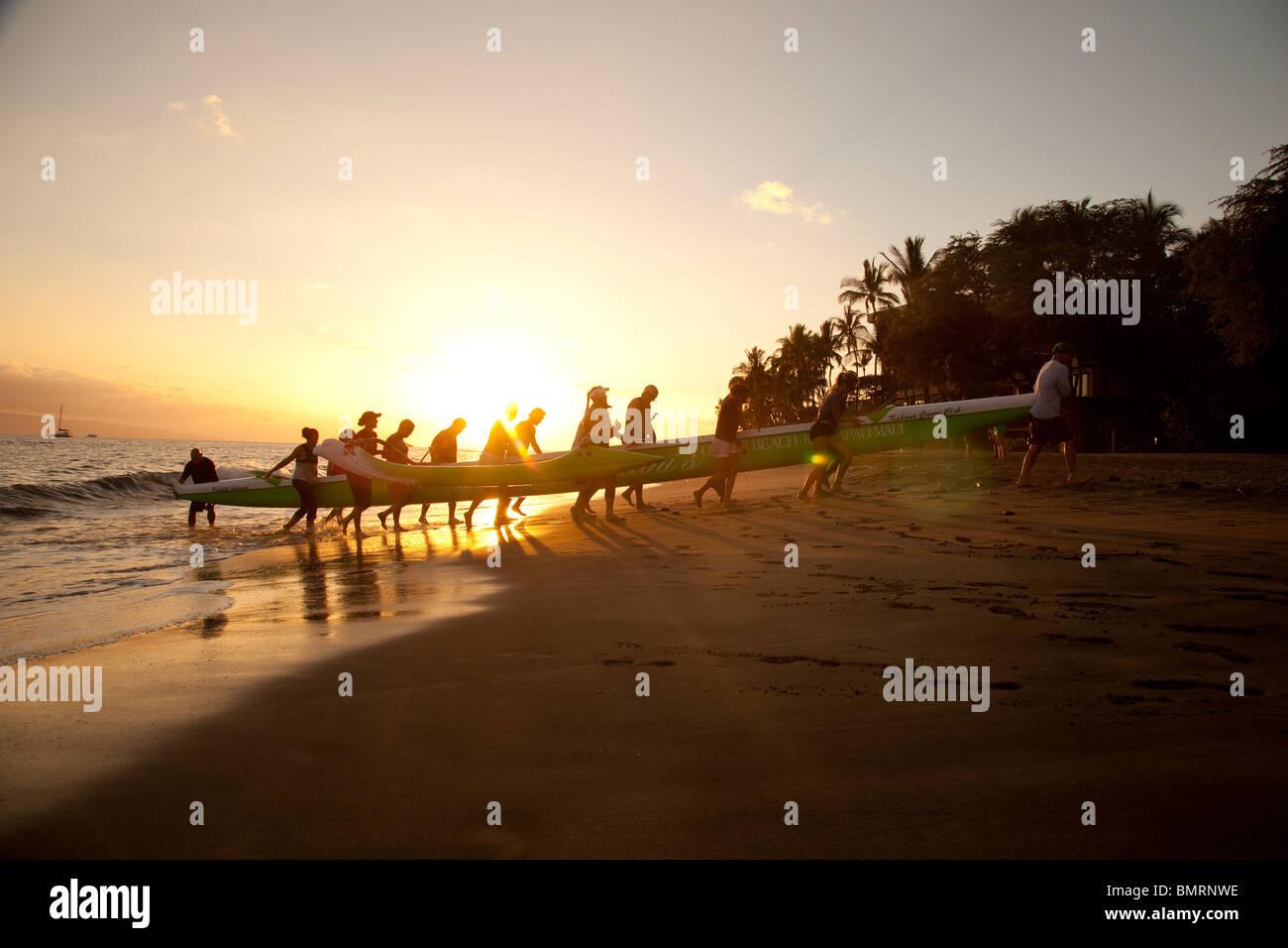 Hanaka'o'o Beach Park, aka Canoe Beach, Maui, Hawaii - Stock Image