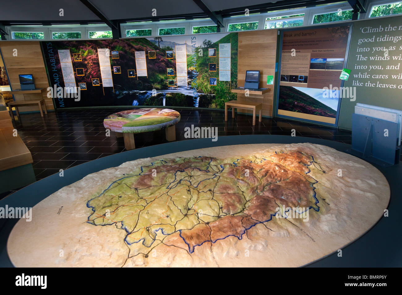 UK, England, Derbyshire, Edale, Peak District National Park, Moorland Visitor Centre, interior Stock Photo