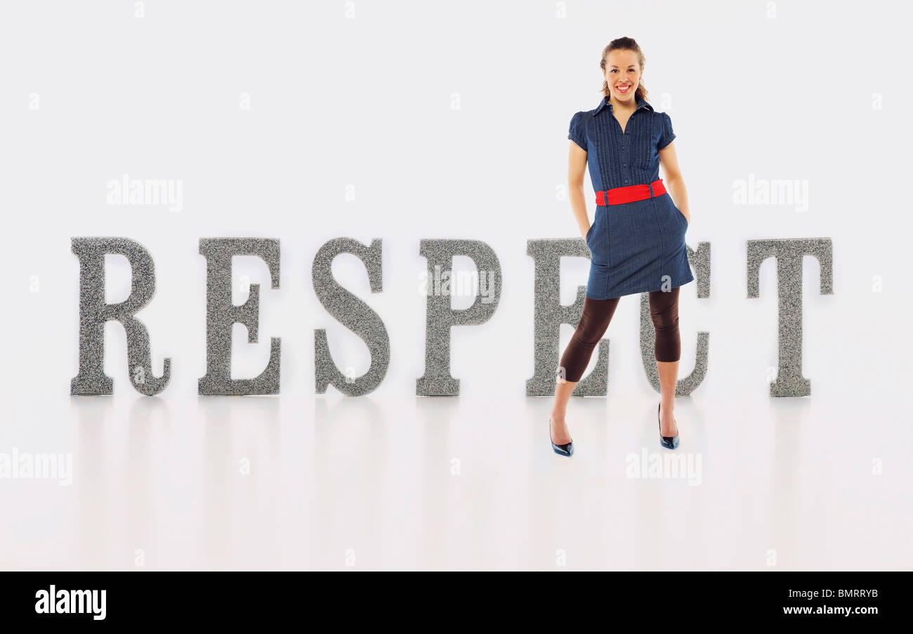 A Woman With Respect - Stock Image