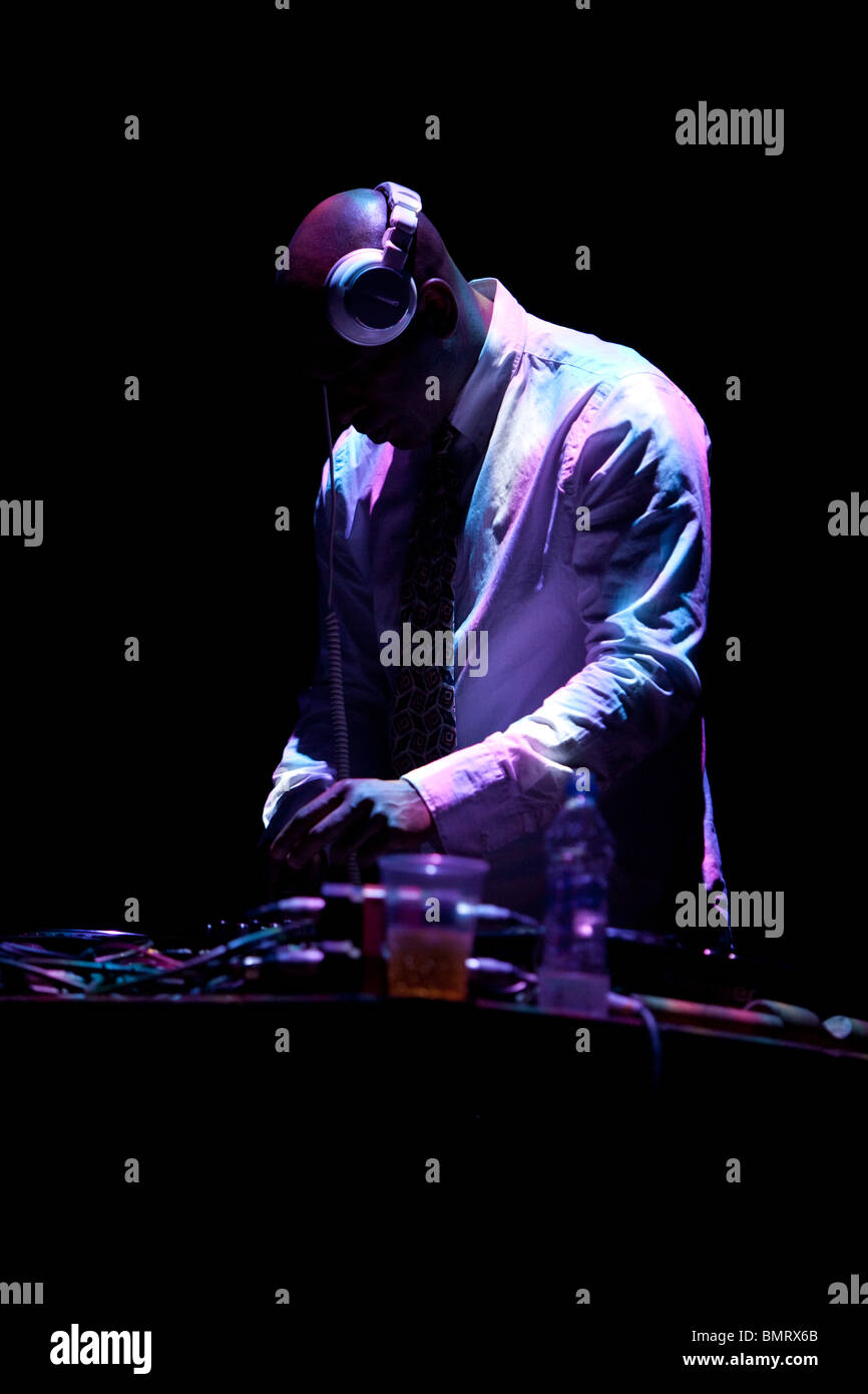 Dj in action - Stock Image