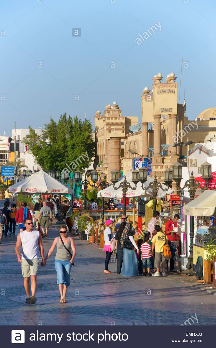 Naama Bay Sharm el Sheikh Egypt - Stock Image