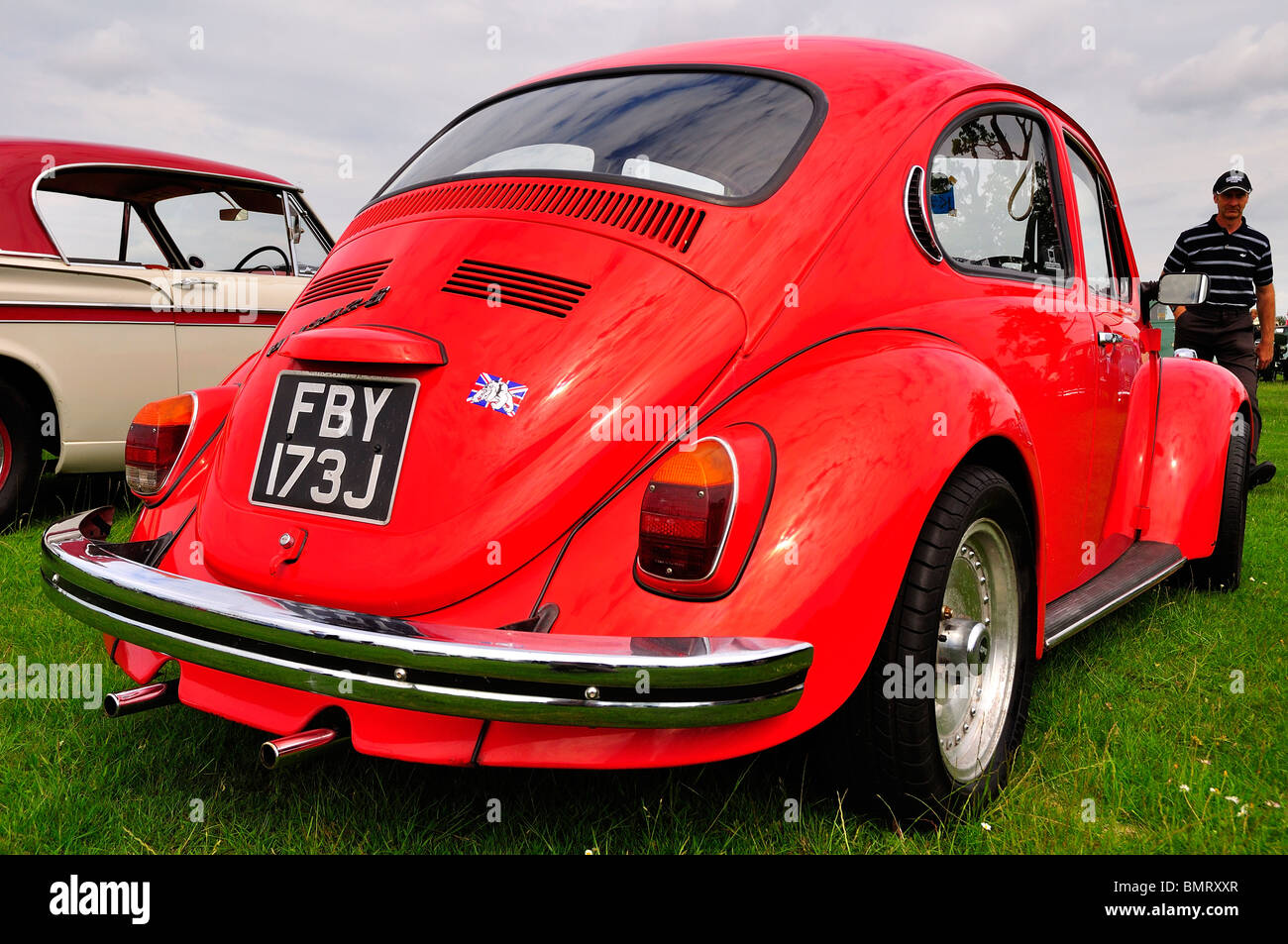 VW Beetle at Classic Car Show in Luton 2010 - Stock Image