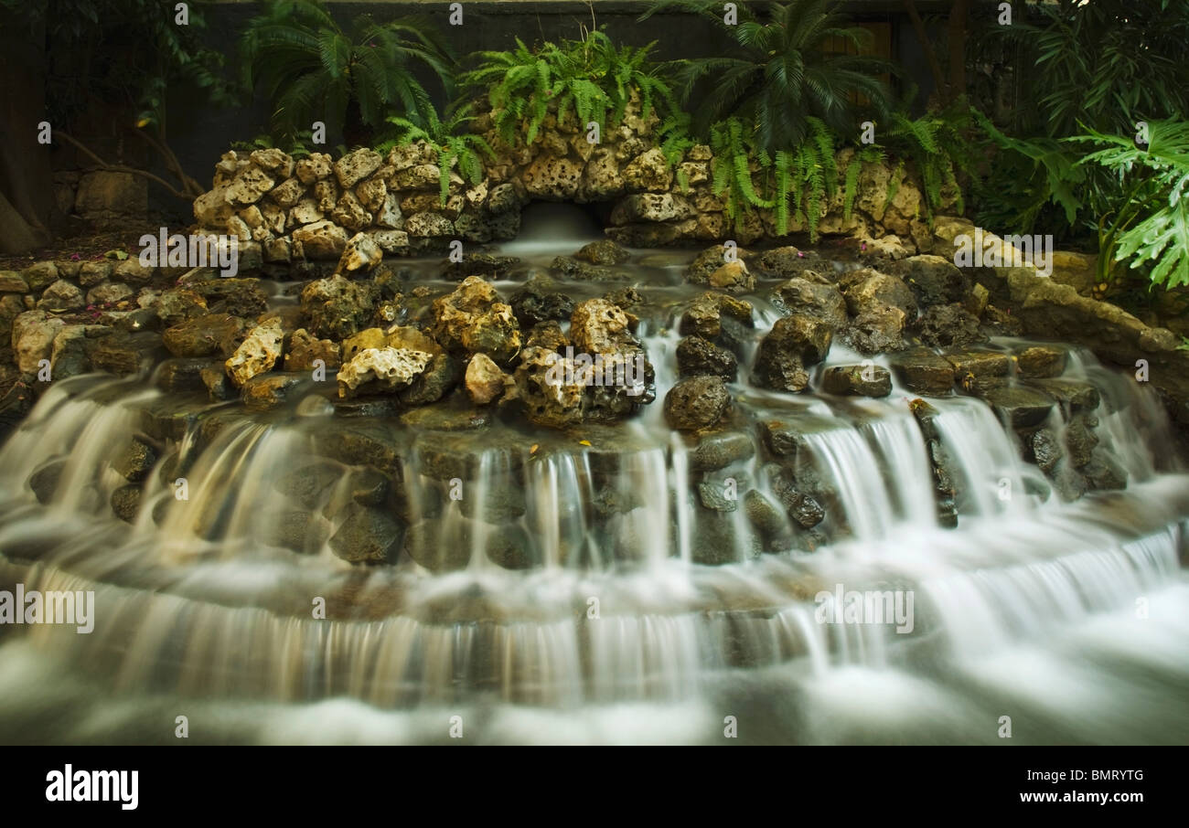 San Antonio, Texas, United States Of America; Waterfalls In A Garden ...