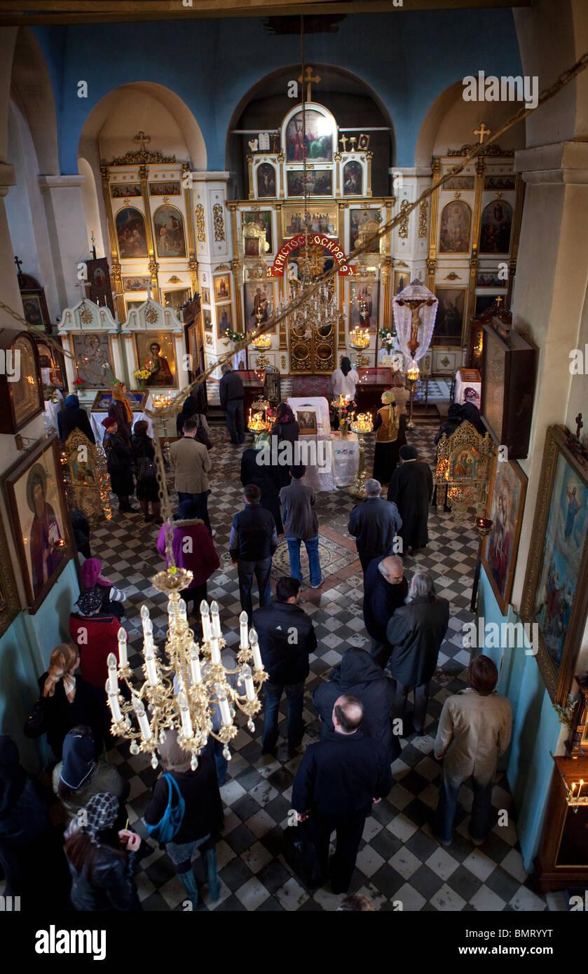 Russian Orthodox Church Tbilisi Georgia - Stock Image