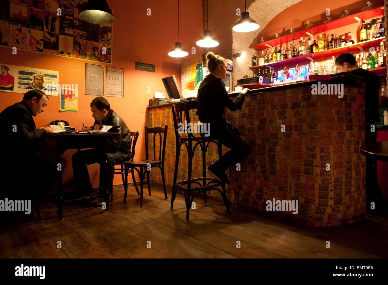 KGB bar, Tbilisi, Georgia, Europe - Stock Image