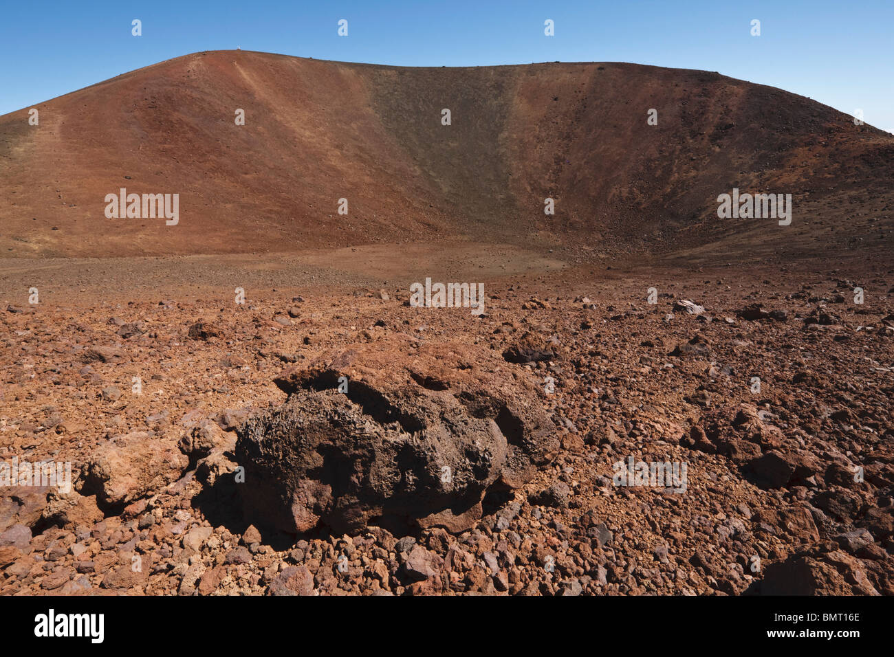 Hawaii, United States Of America; Small Volcanic Crater At The Summit Of Mauna Kea - Stock Image