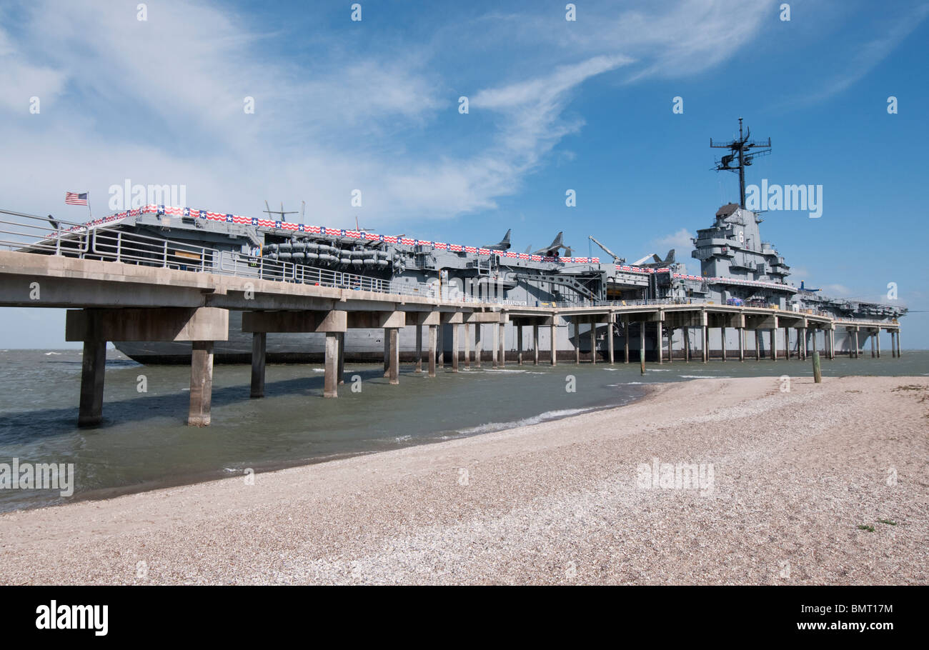 Texas, Corpus Christi, USS Lexington Museum, World War Two era aircraft carrier - Stock Image
