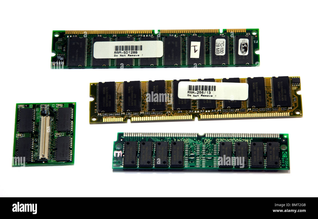 Computer RAM (Memory) Cards - Stock Image