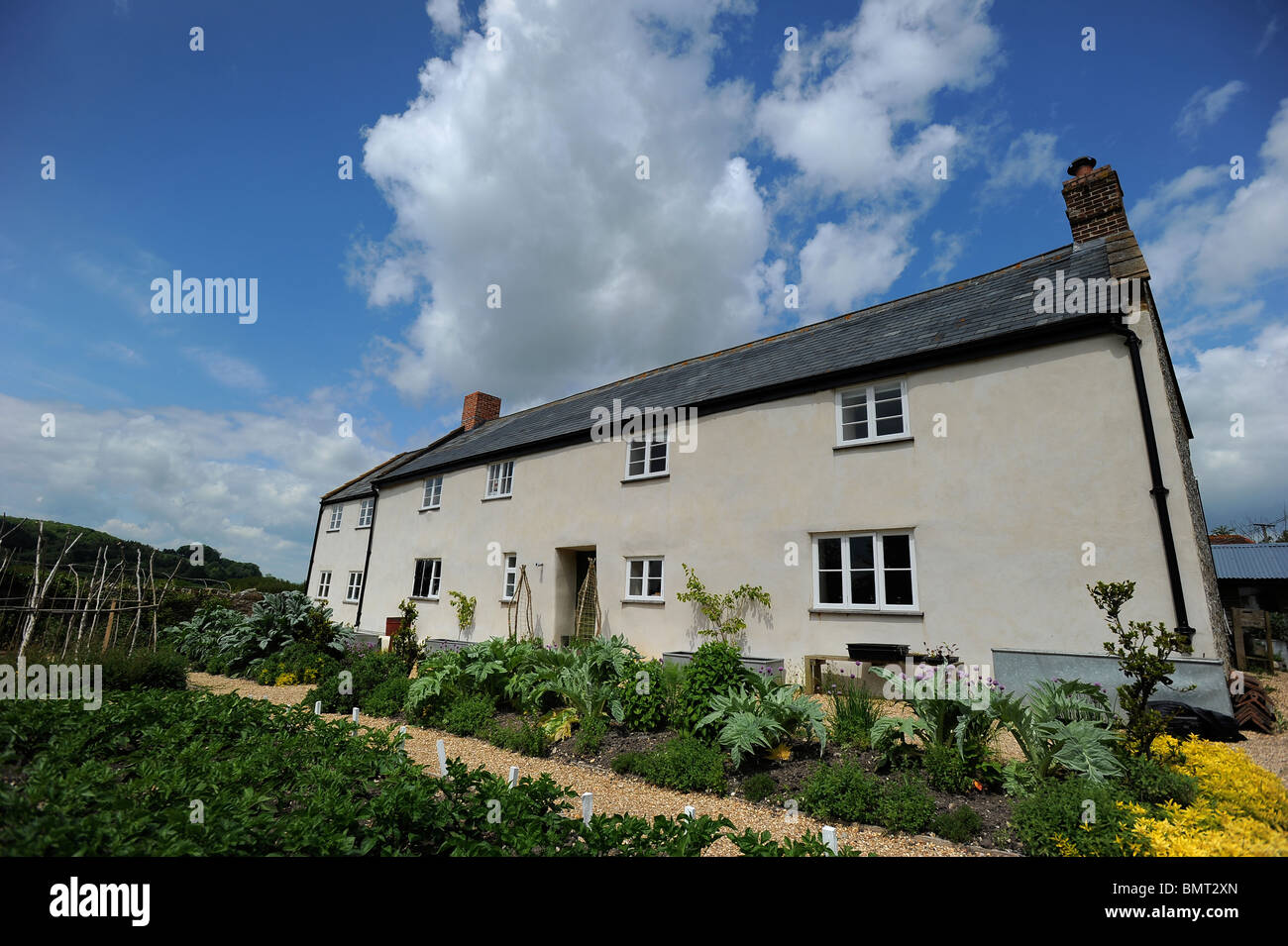 River Cottage HQ, headquarters of TV Chef Hugh Fearnley Whittingstall, near Axminster, Devon - Stock Image