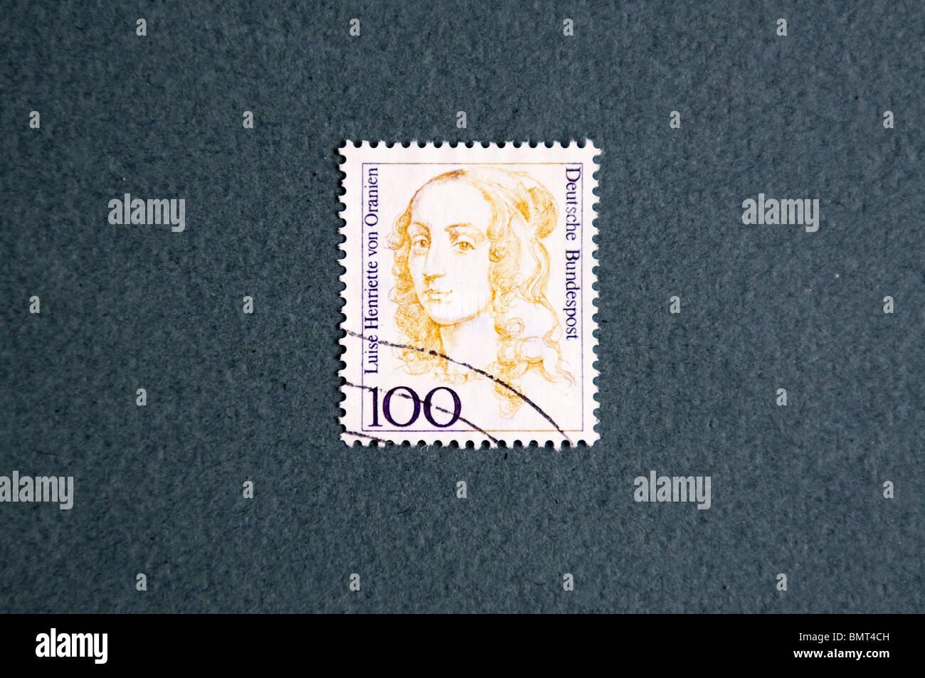 Louise Henrietta of Nassau in a german stamp - Stock Image