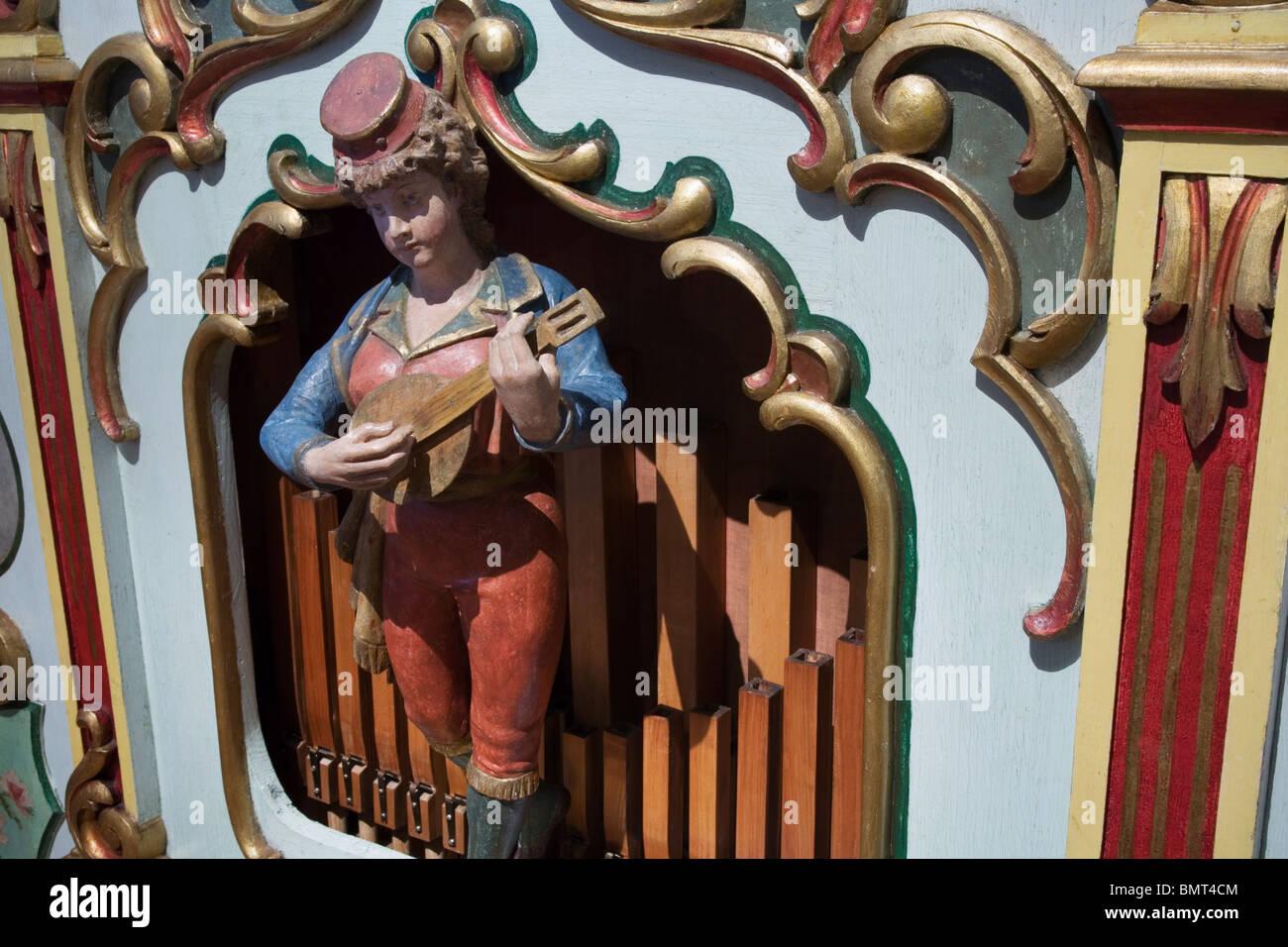 Vintage organ Starkton White front orchestrion or Noteorgel, Vienna, Austria - Stock Image
