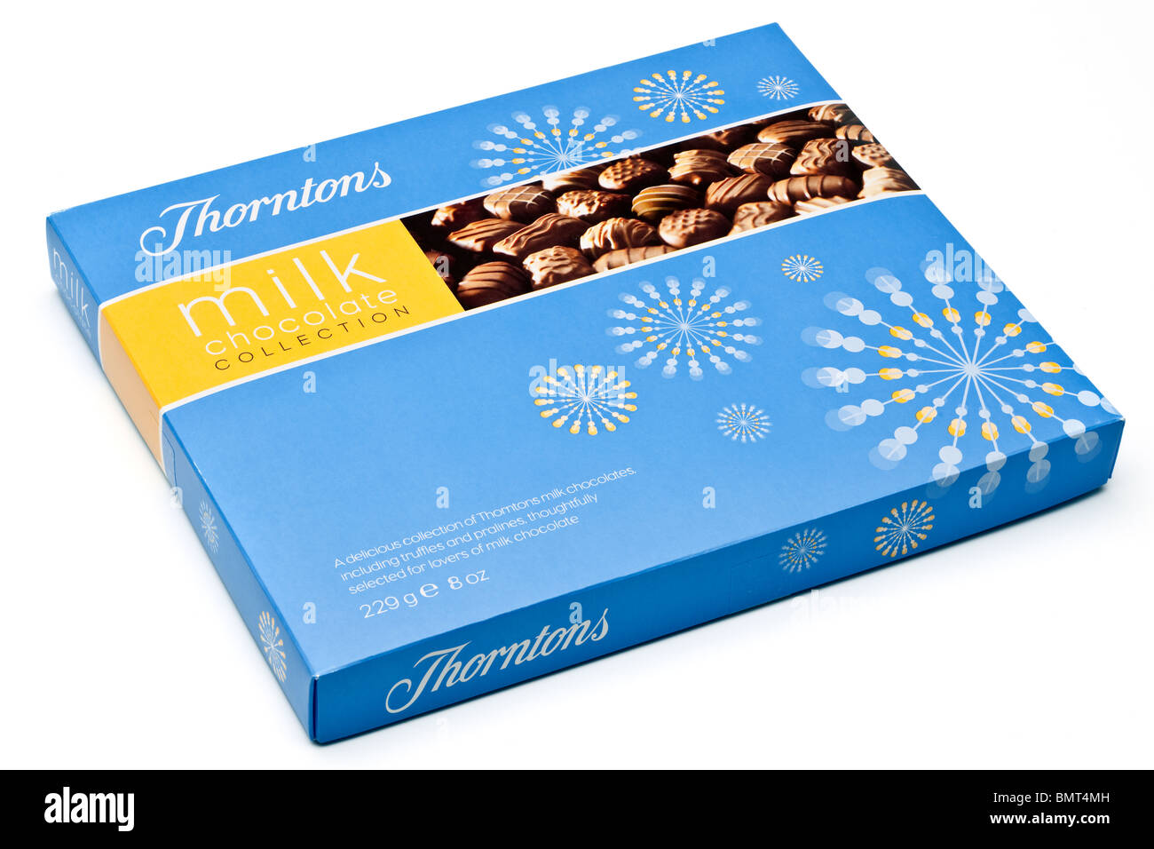 8 ounce Box of Thorntons milk chocolate collection - Stock Image