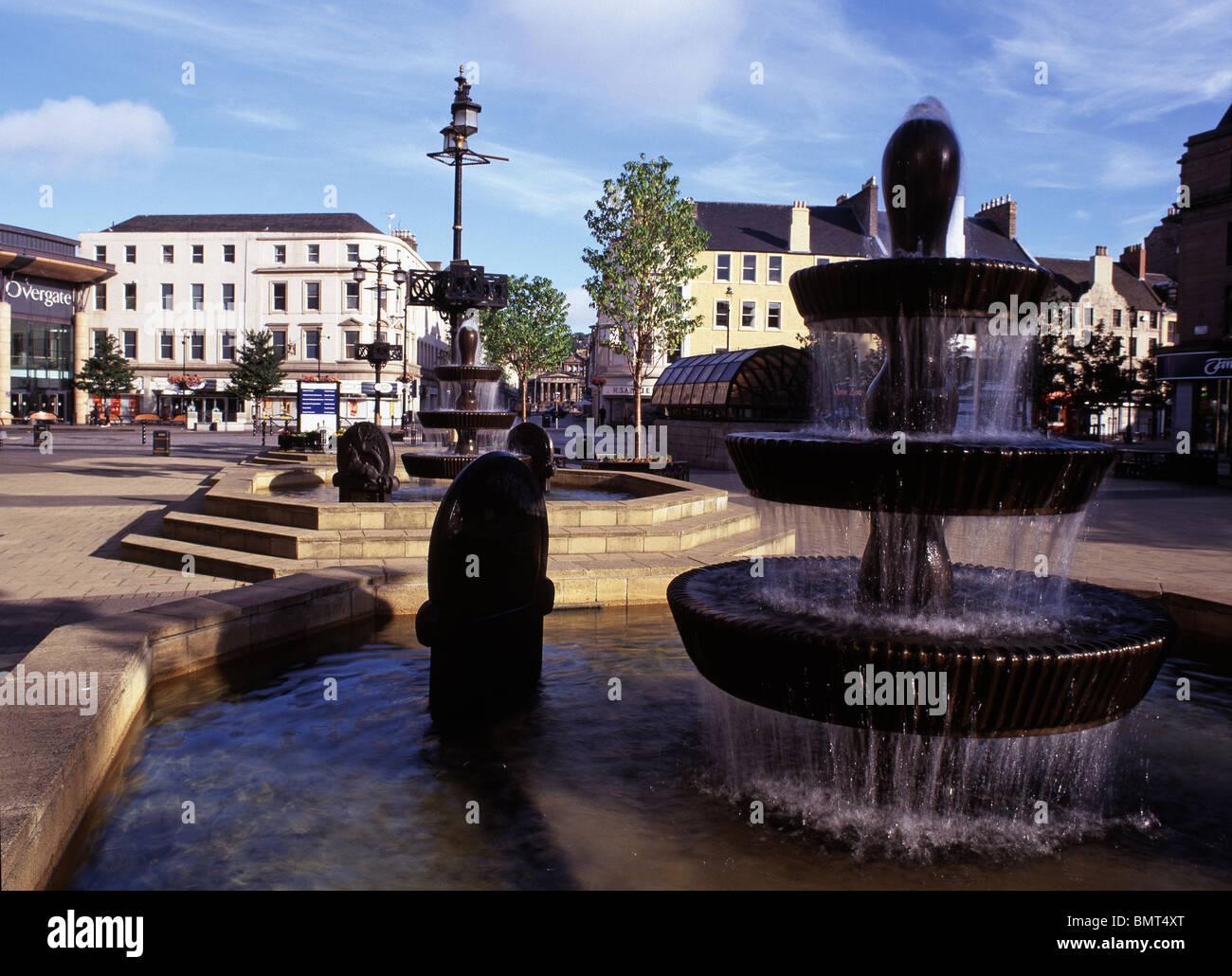 City Square, Dundee, Tayside, Scotland, U.K. - Stock Image