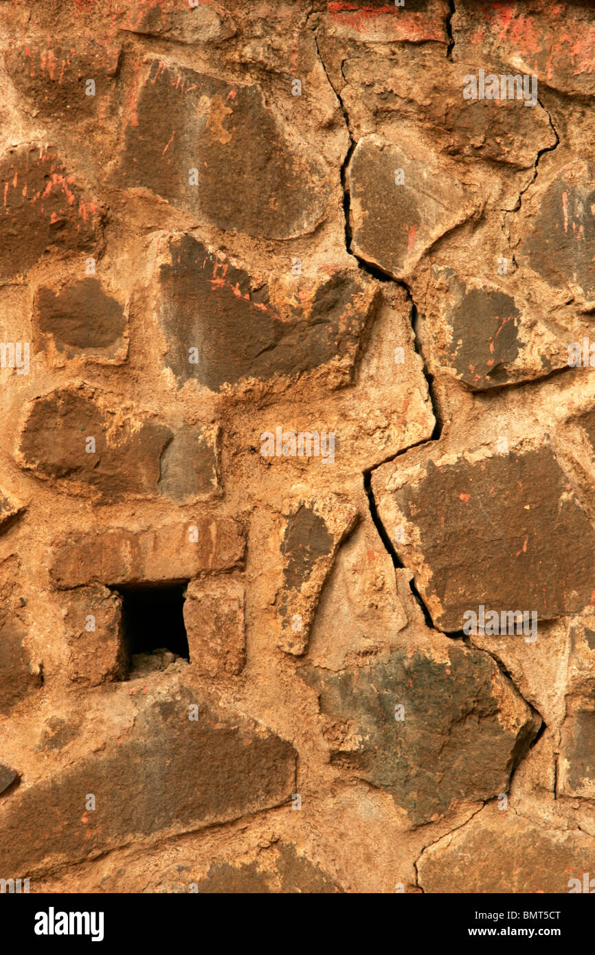 Abstract pattern on  stone wall - Stock Image