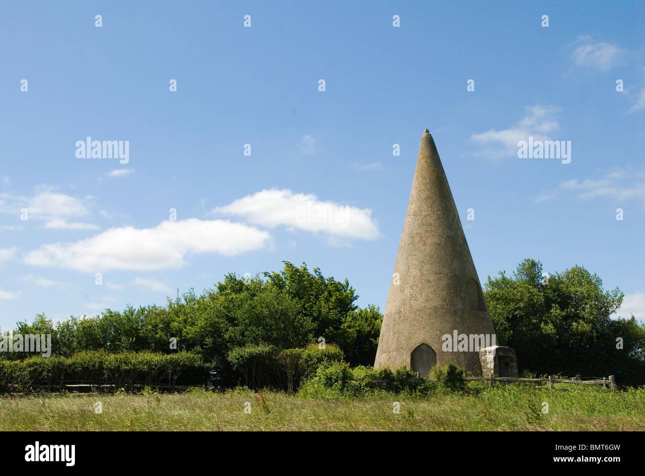 Sugar Loaf Folly near Woods Corner Sussex UK. John Fuller of Brightling Sussex 1757-1834. HOMER SYKES - Stock Image