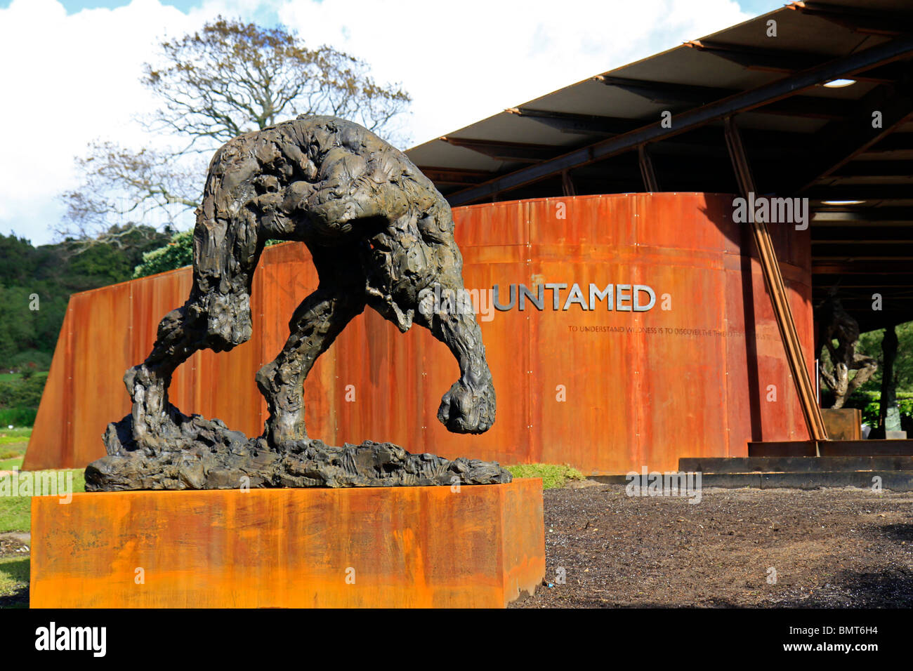 ' Untamed: Restoring the lost balance between man and nature' is a year long exhibition being held at Kirstenbosch - Stock Image