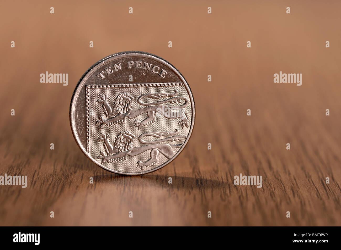 Ten Pence coin - Stock Image