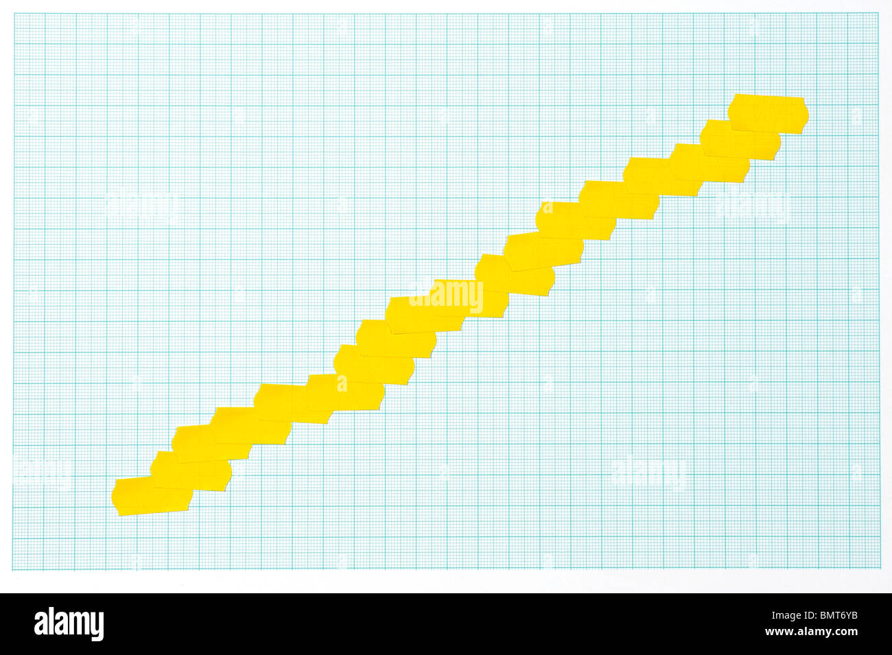 Shop price stickers graph - Stock Image