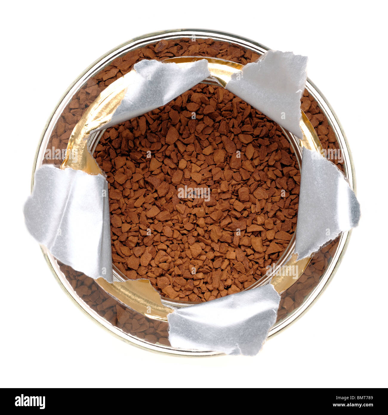 Jar of instant coffee - Stock Image