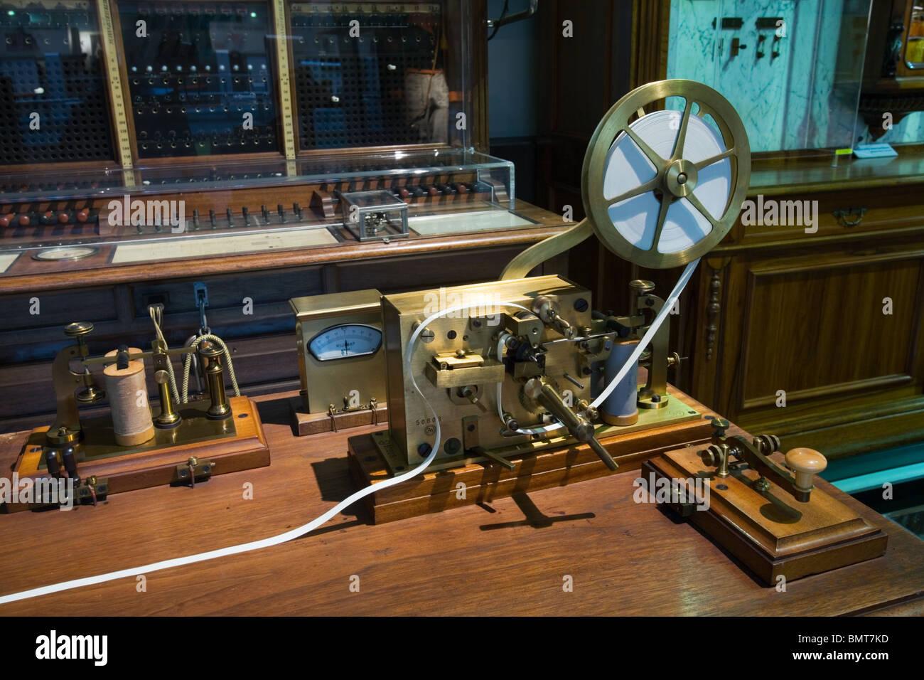 Morse telegraph machine, Vienna, Austria - Stock Image