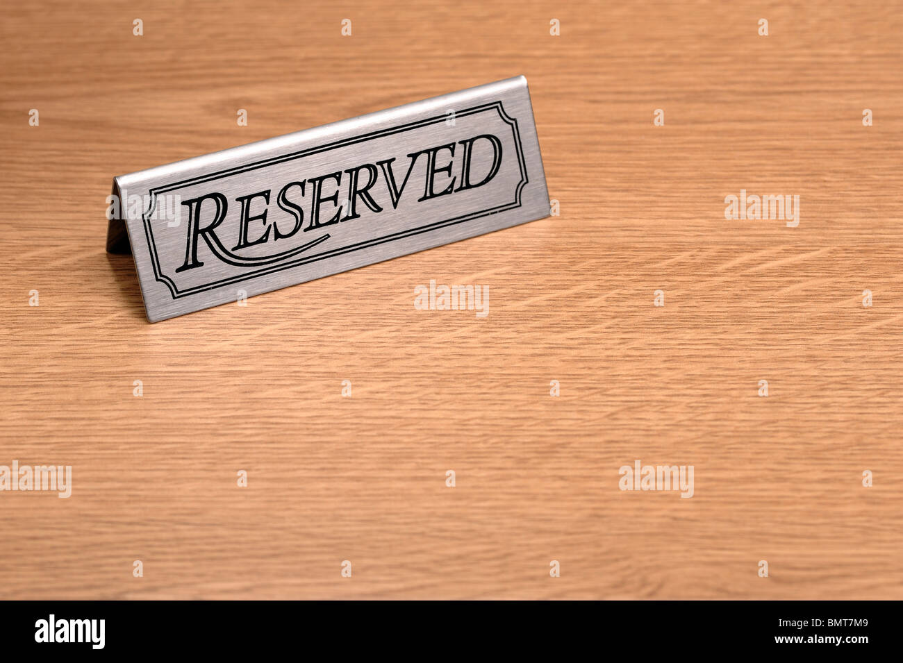 Reserved table sign - Stock Image