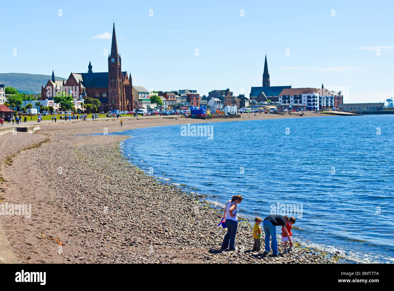The Scottish seaside town of Largs - Stock Image