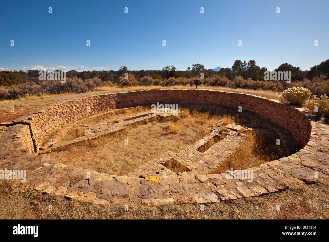 Kiva at Lowry Pueblo site in Canyons on the Ancients National Monument, Colorado, USA - Stock Image