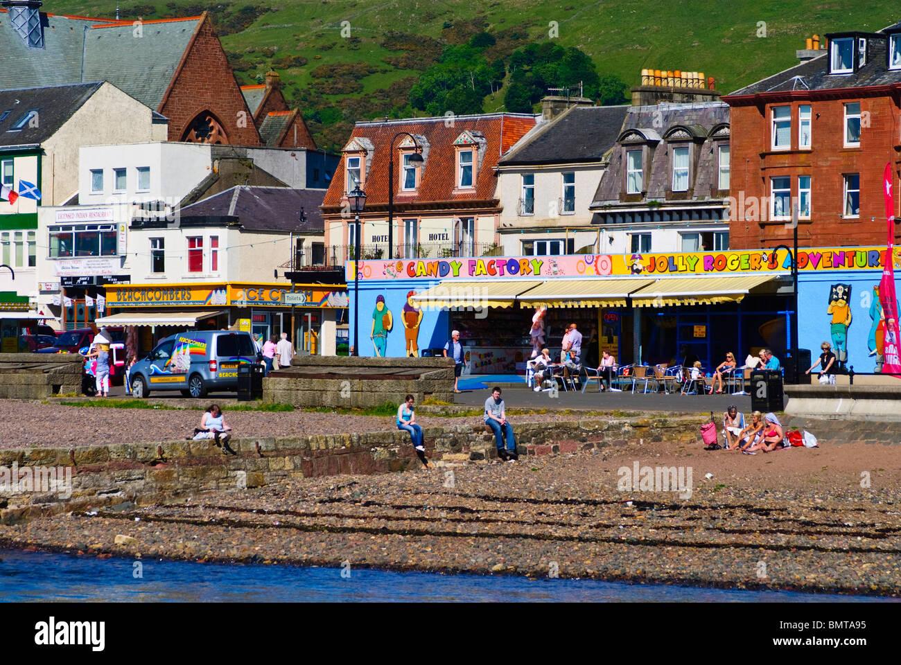 The Scottish seaside town of Largs Stock Photo: 30038433 - Alamy