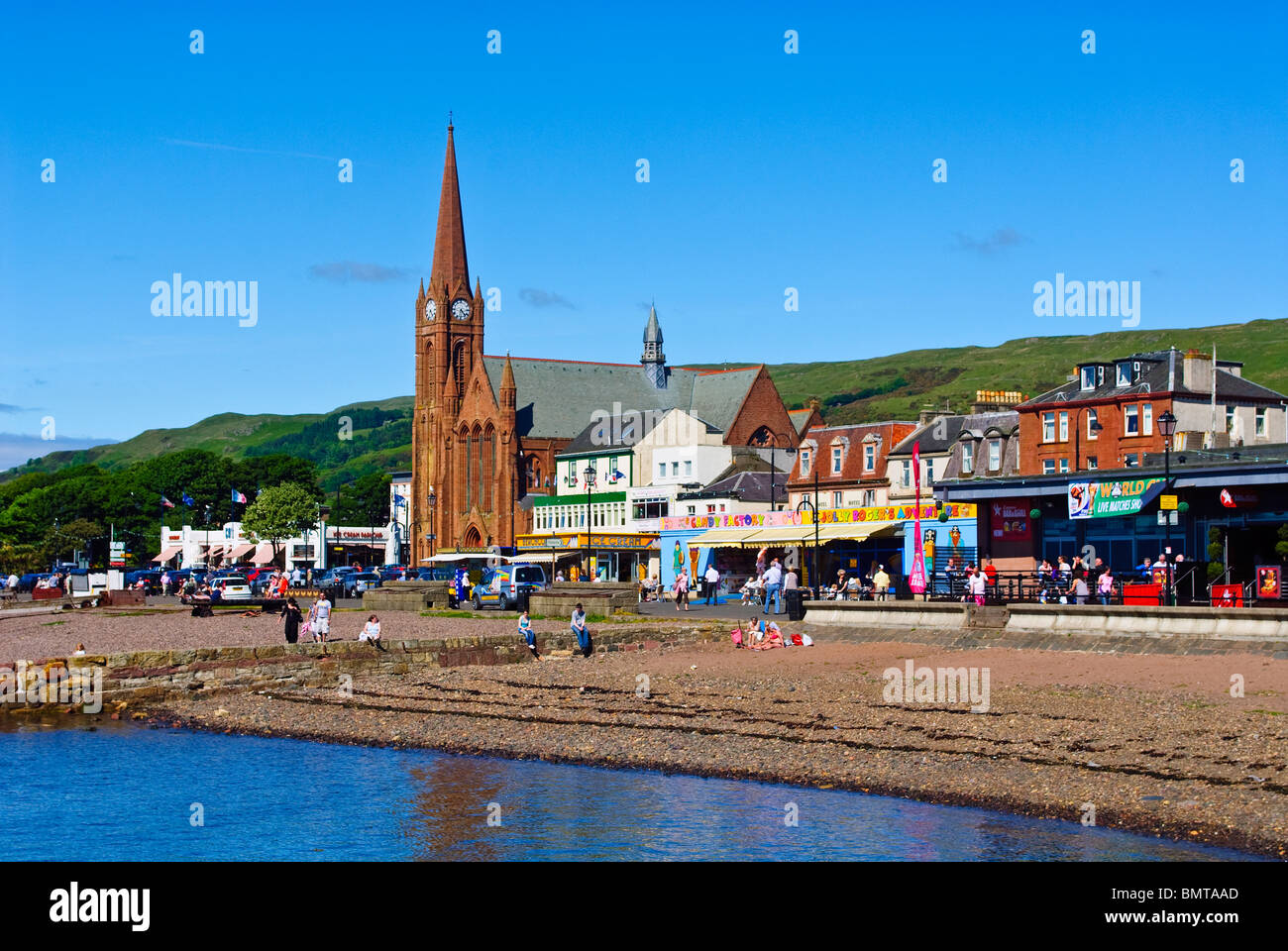 The Scottish seaside town of Largs Stock Photo: 30038469 - Alamy