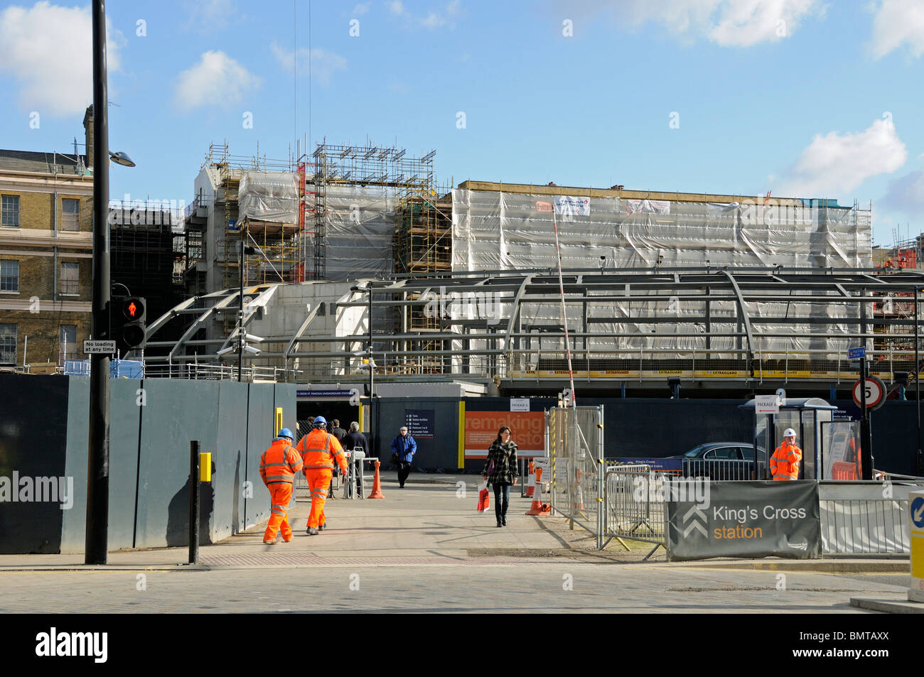 Construction work in progress at Kings Cross Station Stock Photo