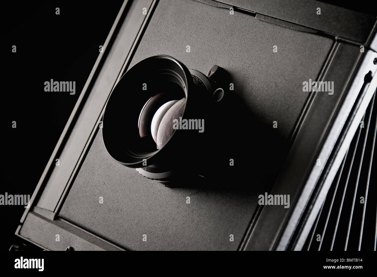 Large format camera photo. - Stock Image