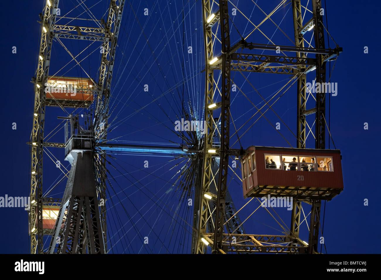 Riesenrad Ferris wheel Vienna, Austria - Stock Image