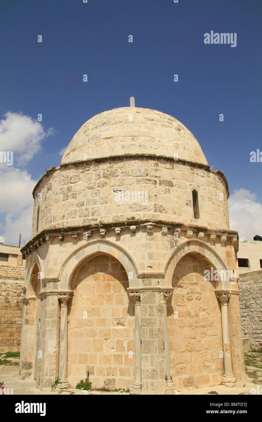Israel, Jerusalem, Israel, Jerusalem, the Ascension Chapel on the Mount of Olives - Stock Image