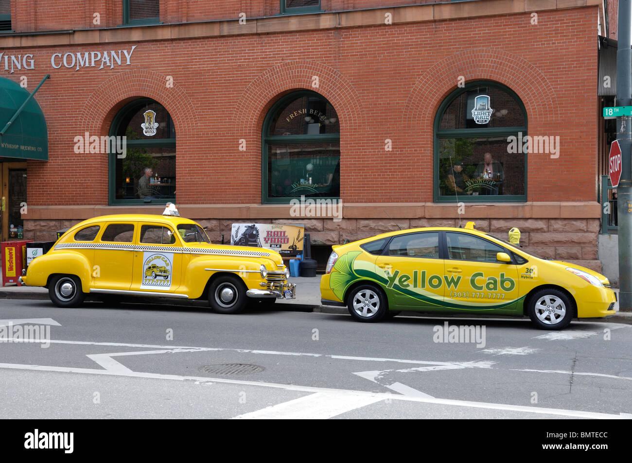 Yellow Cab Denver >> Taxi Yellow Cab Denver Colorado Stock Photos Taxi Yellow