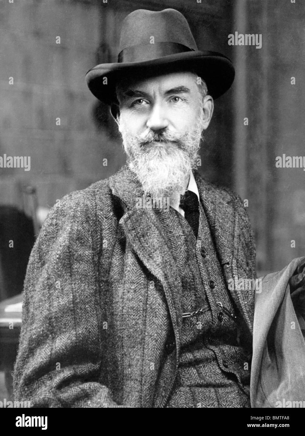 Portrait photo c1909 of Irish playwright George Bernard Shaw (1856 - 1950) - winner of the Nobel Prize in Literature - Stock Image