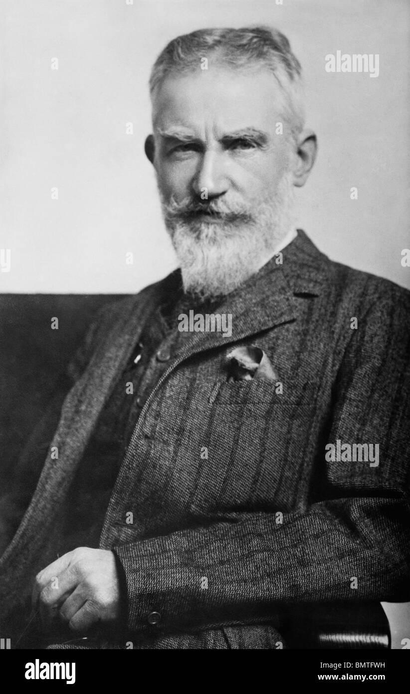 Undated portrait photo of Irish playwright George Bernard Shaw (1856 - 1950) - winner of the Nobel Prize in Literature - Stock Image
