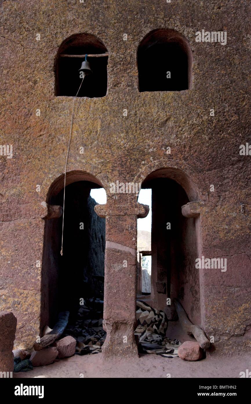 Africa. Ethiopia. Lalibela. Rock carved church - Stock Image
